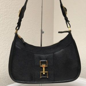 Gucci black Leather Shoulder bag/Satchel